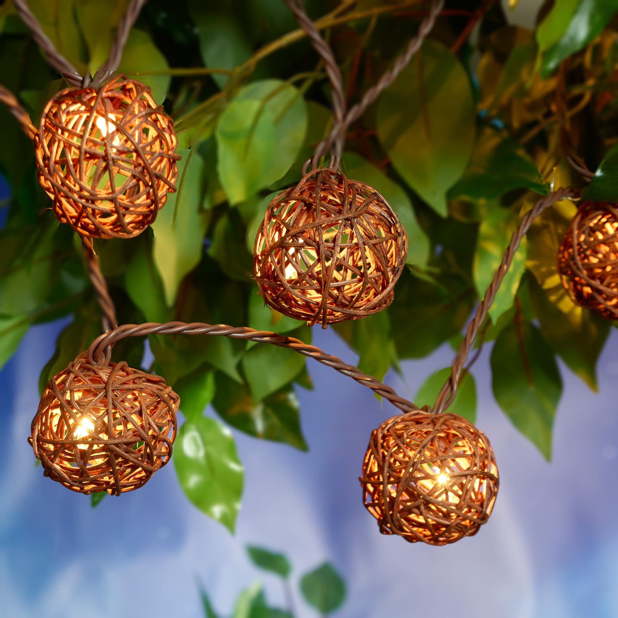 Better Homes & Gardens 20ct (2x10) Wicker Ball String Lights