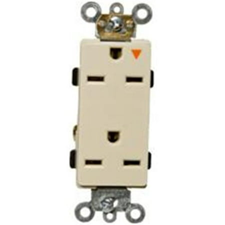 Morris Products 81921 Decorator Isolated Ground Duplex Receptacle White 15A-250V - image 1 of 1