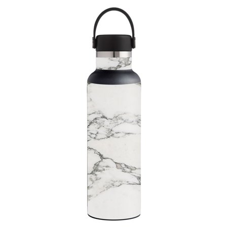 Art Marble 21 Halloween (Skin For Hydro Flask 21 oz. Standard Mouth - White Marble | MightySkins Protective, Durable, and Unique Vinyl Decal wrap cover | Easy To Apply, Remove, and Change Styles |)
