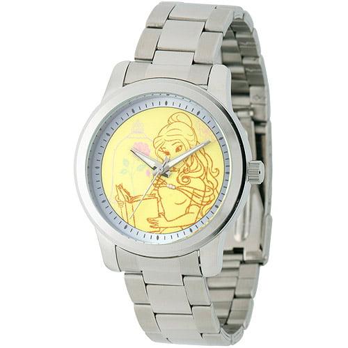 Disney Belle Women's Casual Alloy Watch, Silver Bracelet