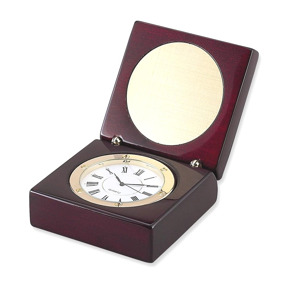 IceCarats Square Wood Box A Clock  Desk Office