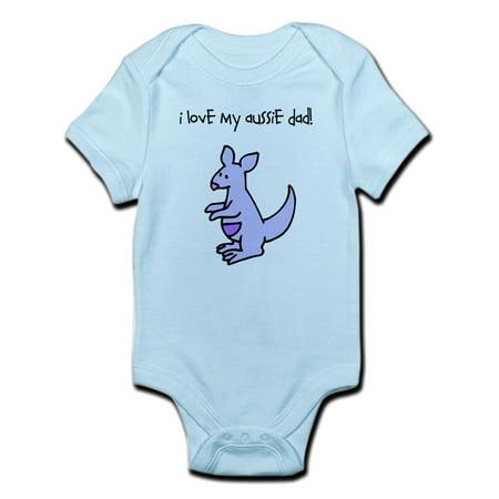 CafePress - I Love My Aussie Dad Kangaroo Body Suit - Baby Light Bodysuit