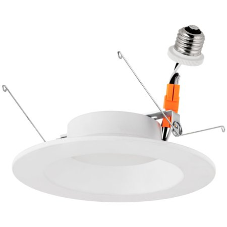 Sunlite LED Retrofit 5-Inch Round Recessed Downlight, Wet Location, Medium Base (E26), 14 Watt, 4000K Cool White ()