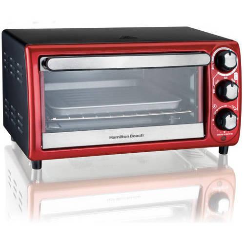 Hamilton Beach 4-Slice Toaster Oven, Red - Walmart.com