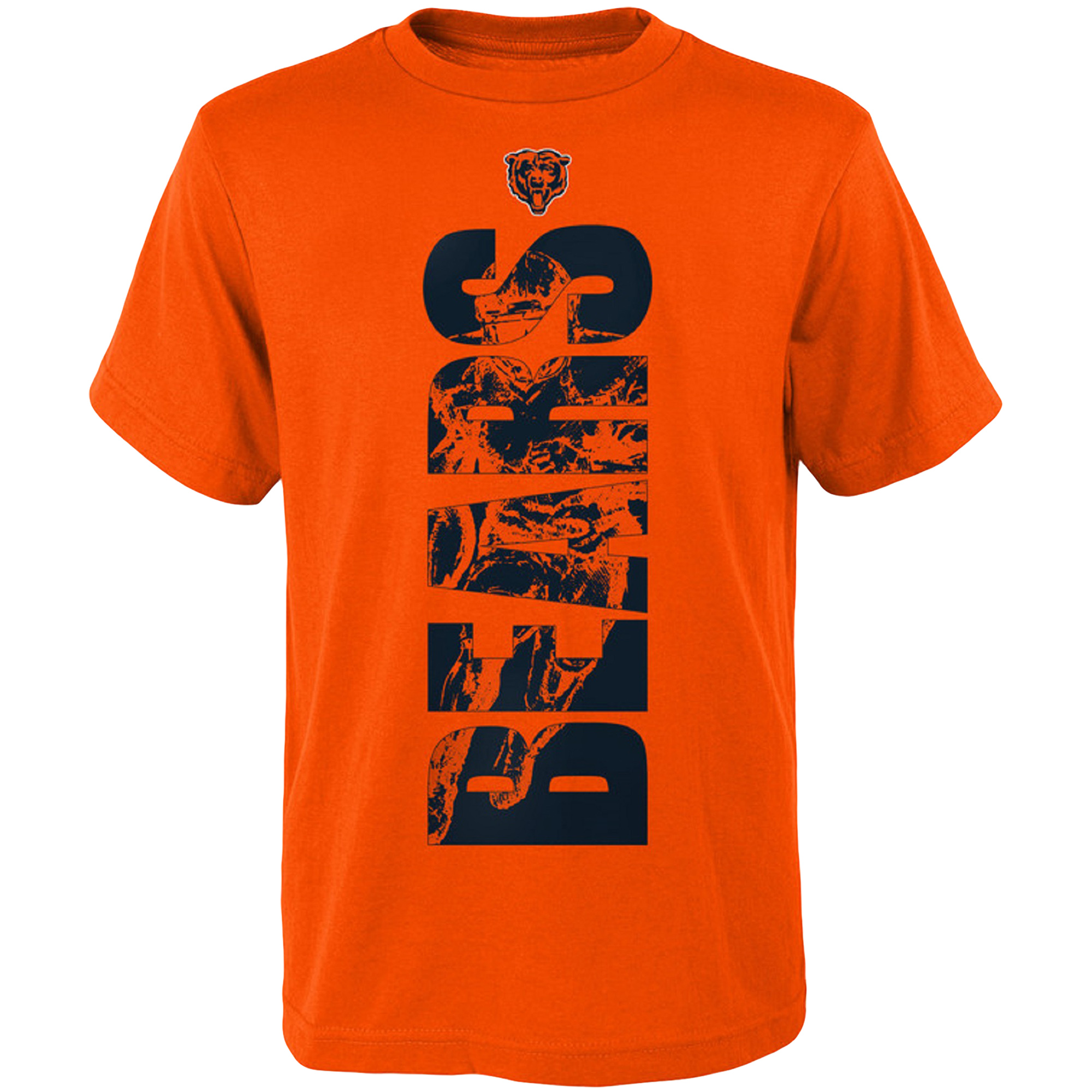 Youth Orange Chicago Bears Side T-Shirt
