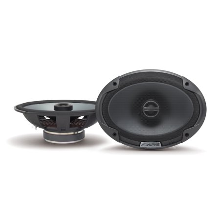 Alpine Coaxial Car Speakers - Alpine Type-E 6 x 9 Inch 300W Coaxial 2-Way Car Audio Speakers, Pair | SPE-6090