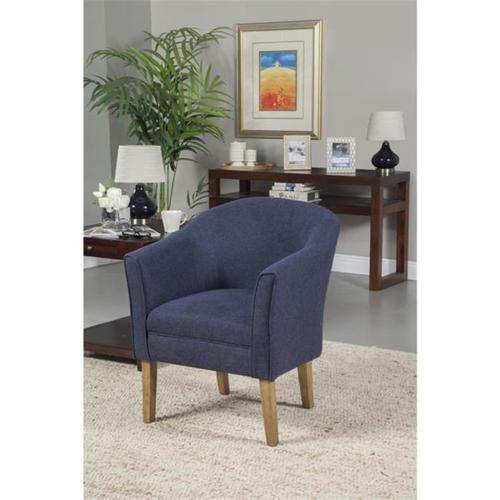 Kinfine USA K6859-F1570 Chunky Textured Accent Chair Navy by Kinfine USA Inc
