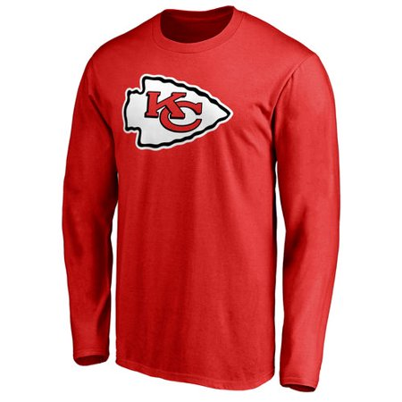 Men's NFL Pro Line Red Kansas City Chiefs Primary Logo Long Sleeve T-Shirt