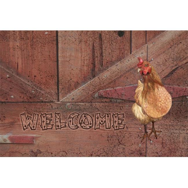Carolines Treasures SB3075PLMT Welcome Chicken Fabric Placemat - image 1 de 1