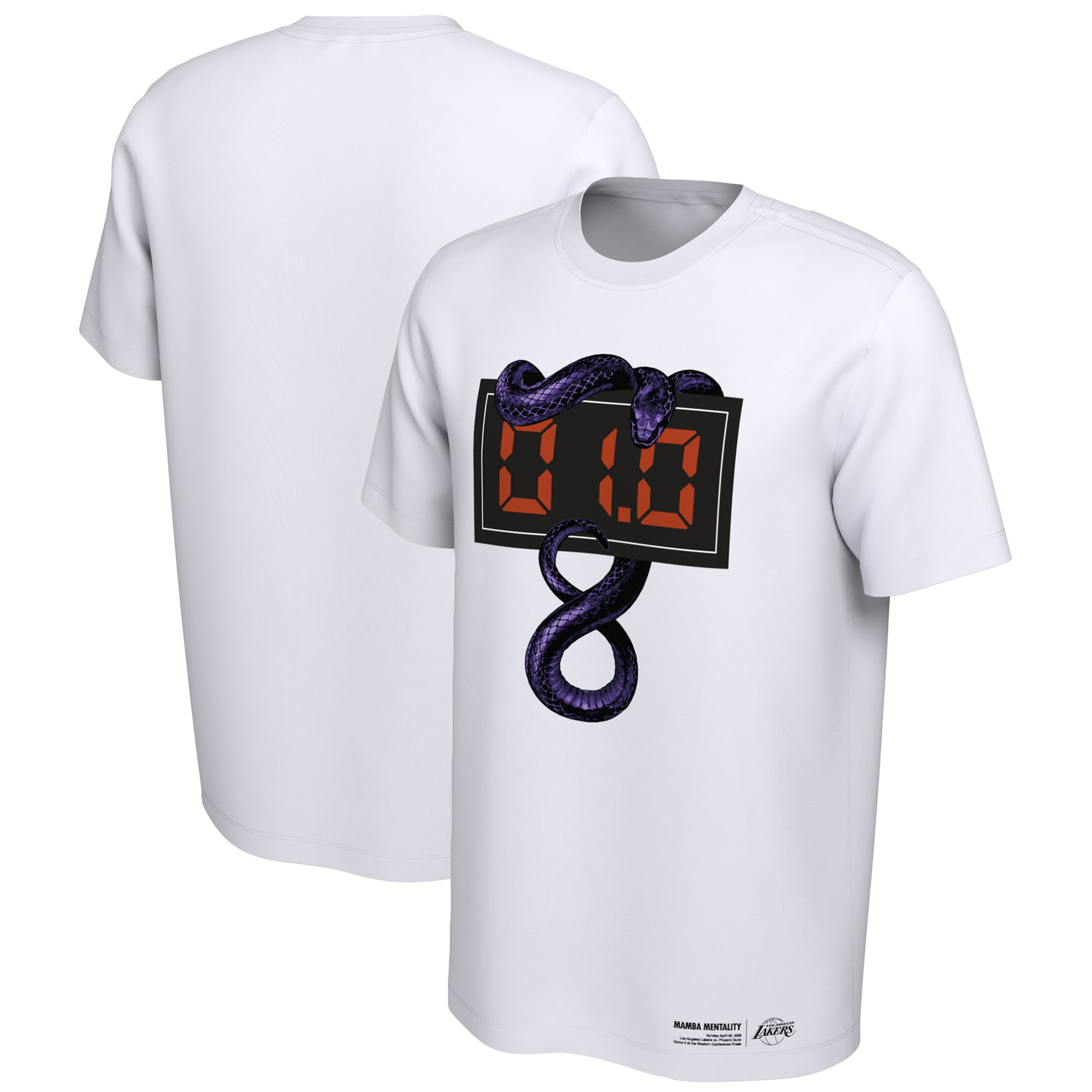 Los Angeles Lakers Nike Mamba Day Buzzer Beater T-Shirt - White