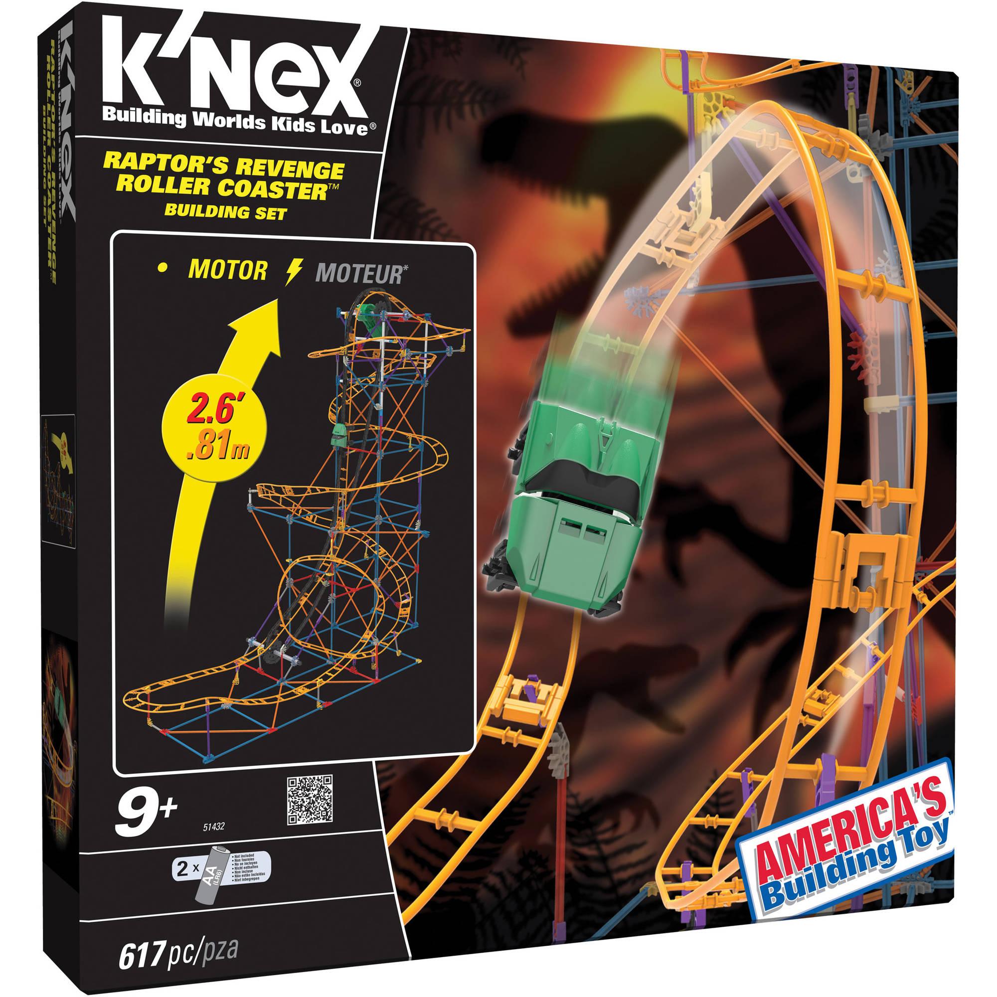 K'NEX Raptor's Revenge Roller Coaster Building Set