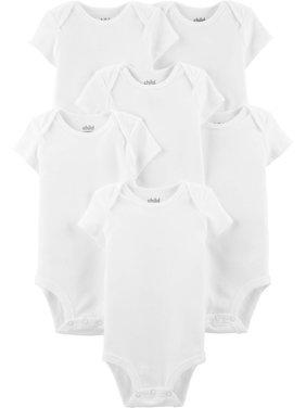 Child Of Mine By Carter's Short Sleeve White Bodysuits, 6pk (Baby Boys or Baby Girls, Unisex)