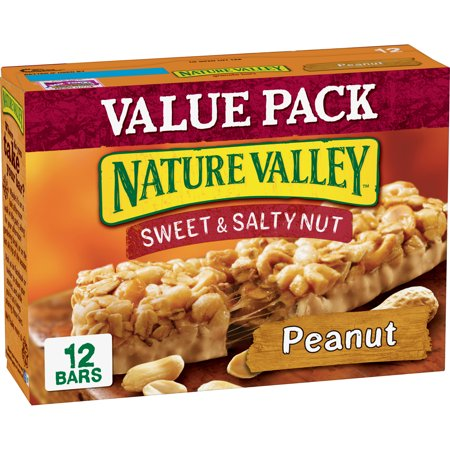 Nature Valley Granola Bar Sweet & Salty Peanut 12 (Advantage Peanut Fudge Granola Bar)