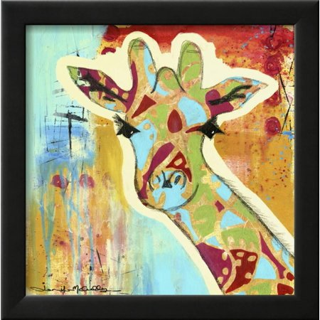 Calypso the Giraffe Framed Print Wall Art By Jennifer McCully ...