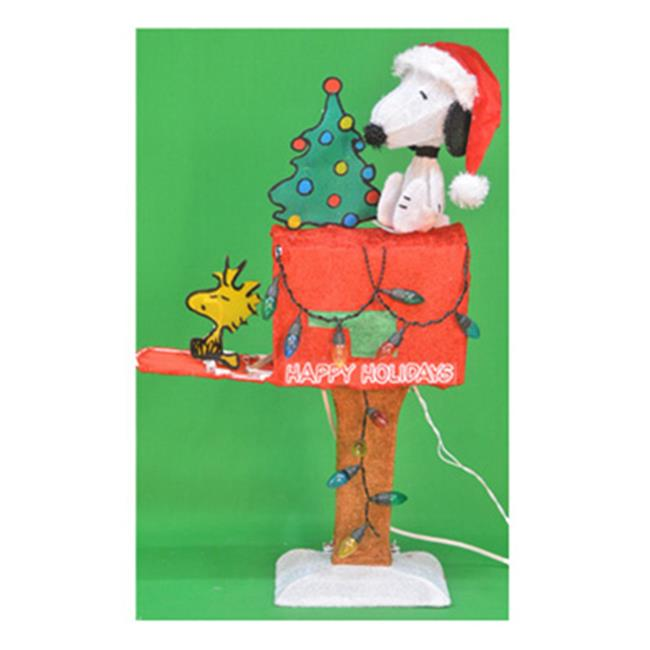 Product Works 70327 32 in. 3-D Snoopy Sitting On Top Of Mailbox With Woodstock On Sitting On Mailbox Cover - image 1 of 1
