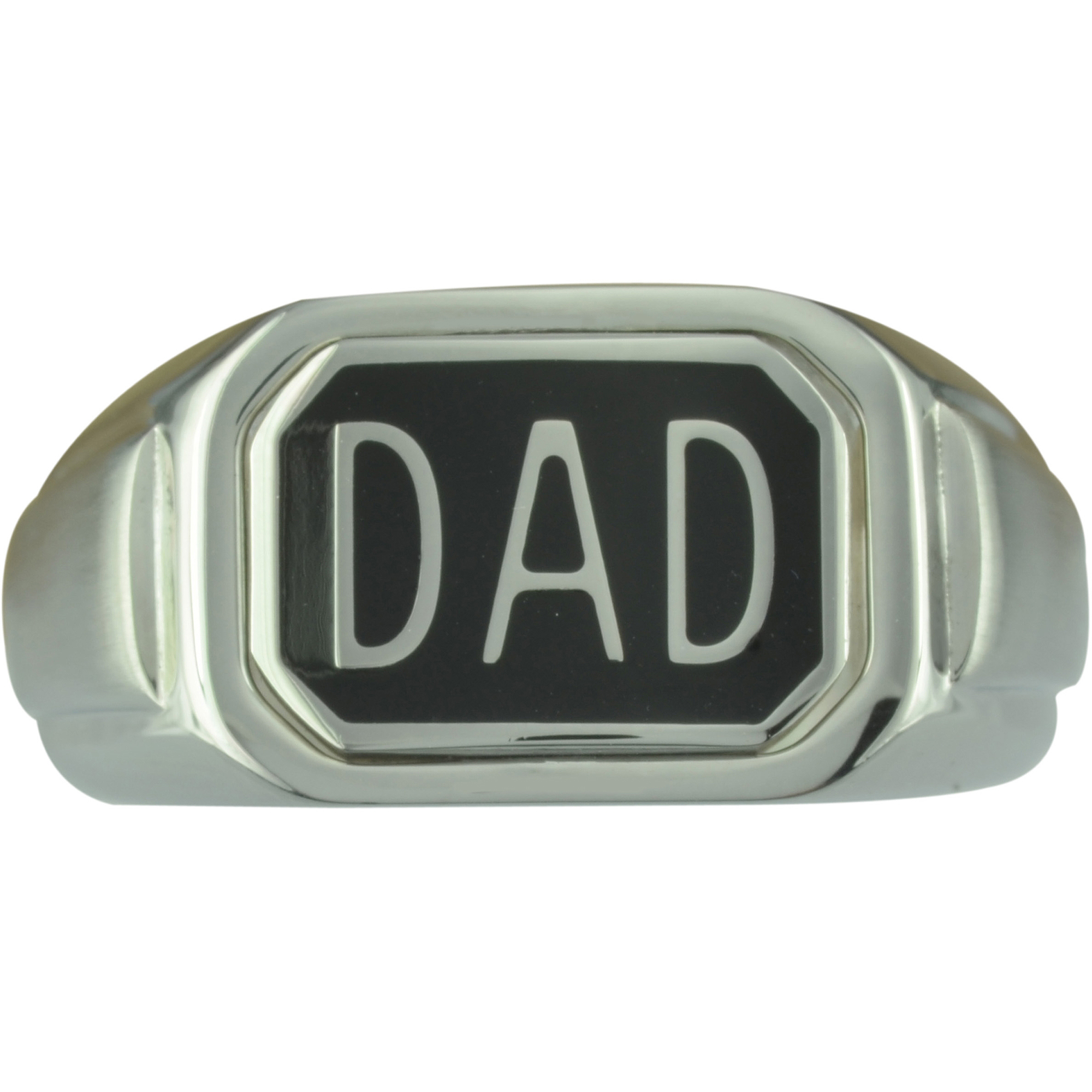 "Diamond Accent Stainless Steel ""DAD"" Flip Ring"