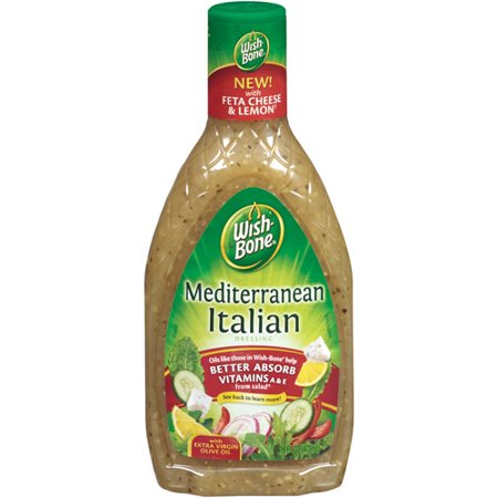 Wish Bone Mediterranean Italian Salad Dressing 16 Oz