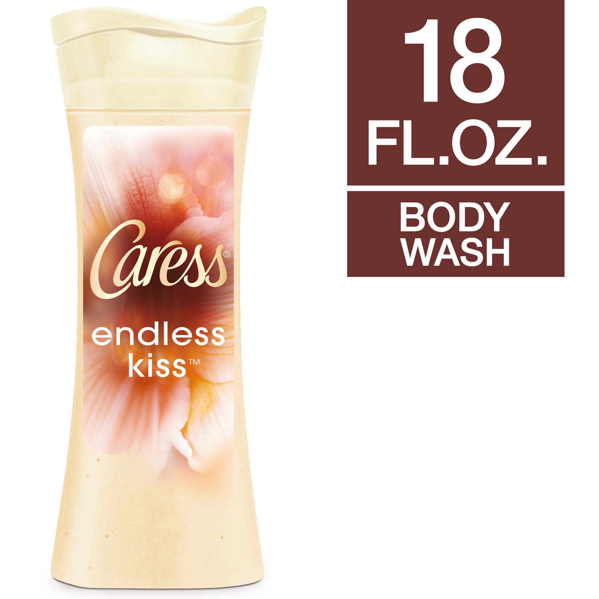Caress Endless Kiss Creamy Vanilla & Sandalwood Body Wash, 18 oz
