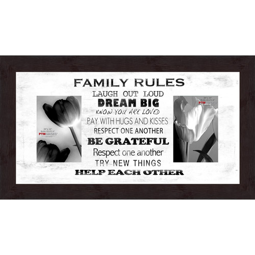 "Family Rules White VIII 20"" x 10"" Collage Picture Frame"