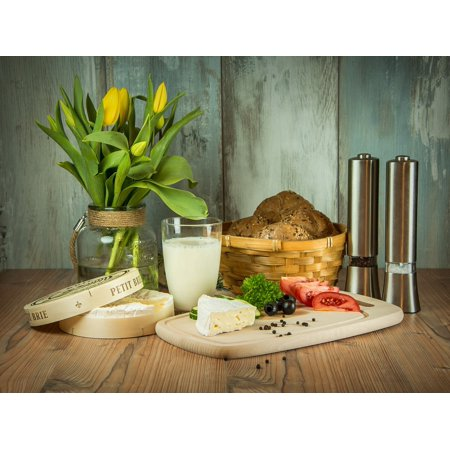 LAMINATED POSTER Flower Cheese Tulips Tomatoes Flowers Breakfast Poster Print 24 x 36