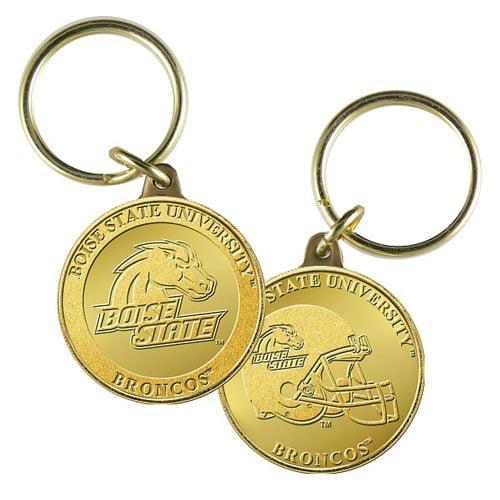 Boise State University Bronze Coin Keychain