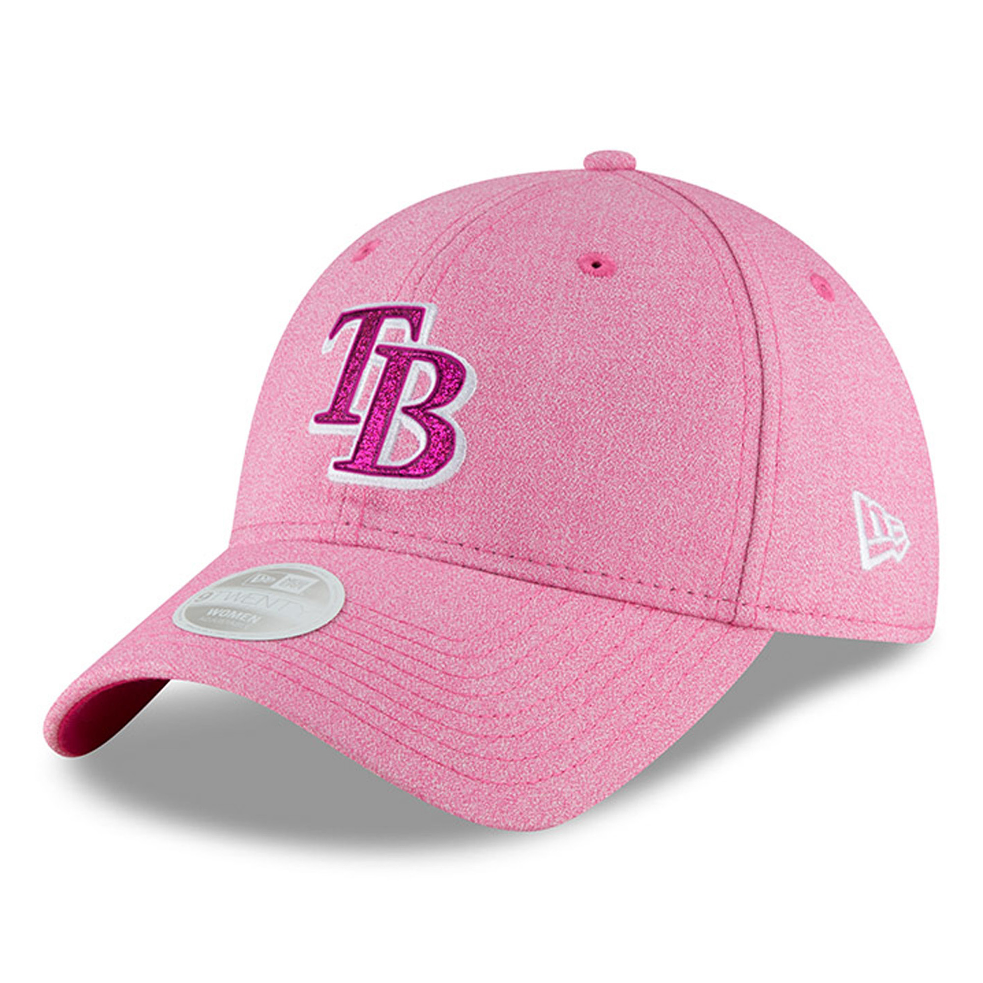 Tampa Bay Rays New Era Women's 2018 Mother's Day Team Glisten 9TWENTY Adjustable Hat - Pink - OSFA