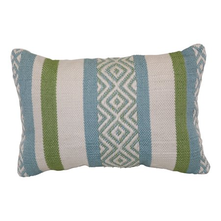 Better homes and gardens green woven outdoor pillow - Better homes and gardens pillows ...