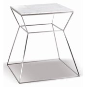 Square End Table in White