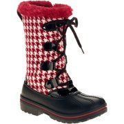 Ozark Trail Girl's Houndstooth Winter Boot -Exclusive Color