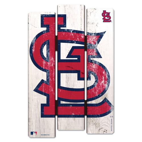 St. Louis Cardinals Official MLB 11 inch  x 17 inch  Wood Fence Sign by Wincraft