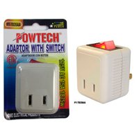 Single Port Power Outlet Wall Tap Adapter Beige On Off Lighted Switch Control !!
