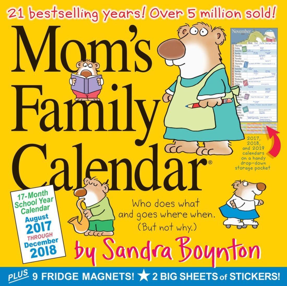 Mom's Family 17-Month 2017-2018 Calendar - Walmart.com