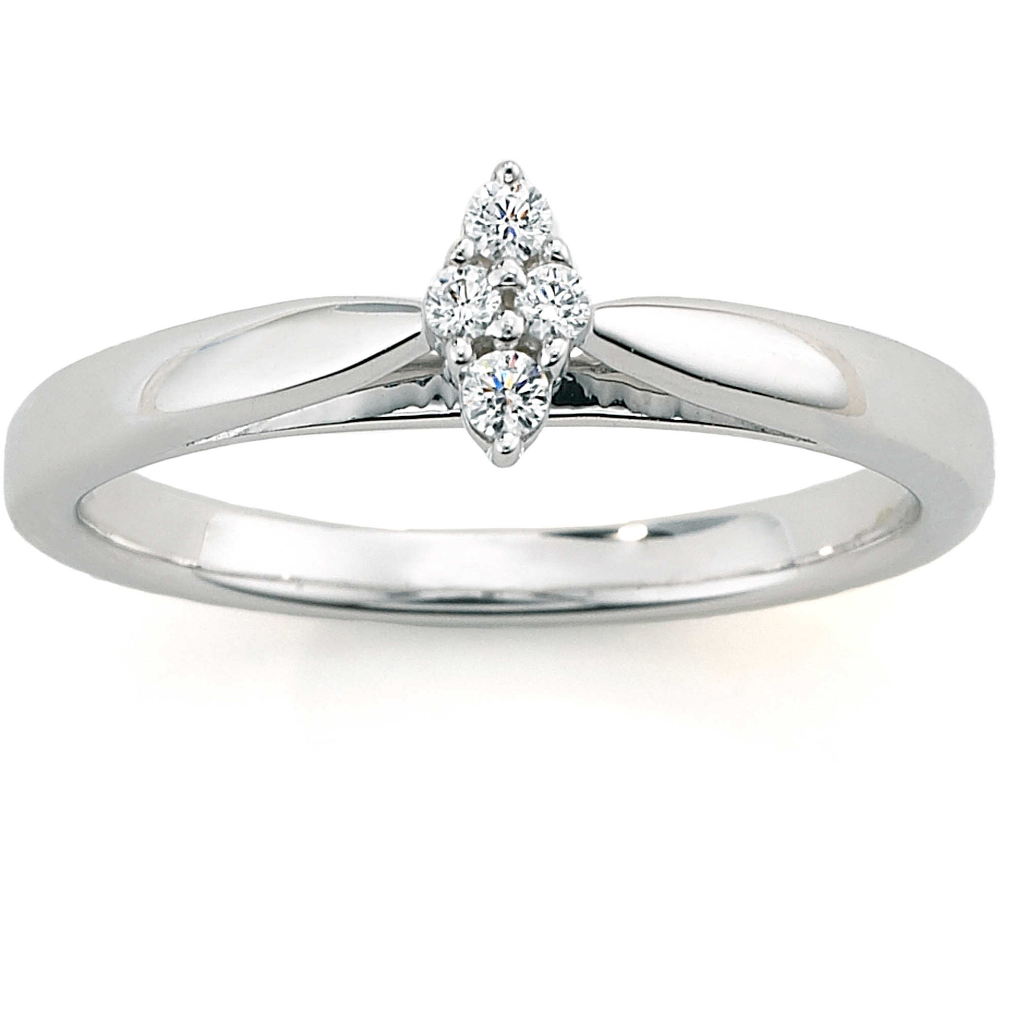 Always Forever Platinaire Diamond Accent Cluster Marquise Shaped