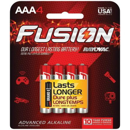 824-4TFUS Fusion Long-Lasting Alkaline Batteries (AAA, 4 Pack), Advanced Alkaline Formula By -