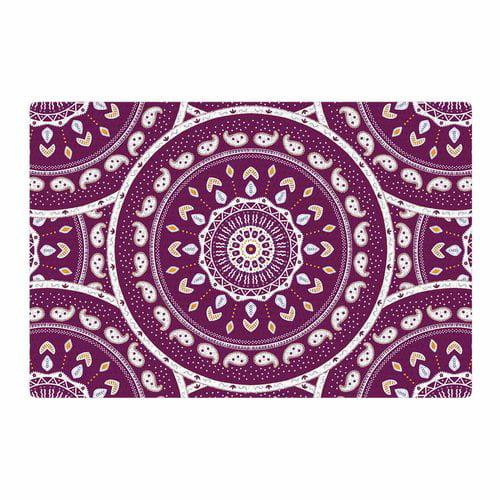 East Urban Home Cristina bianco Design Mandala Design Abstract Purple Area Rug