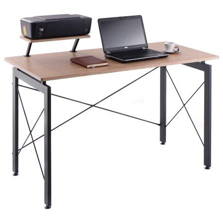 (Costway Computer Desk PC Laptop Table w/ Printer Shelf Home Office Workstation Study)