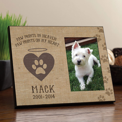 "Personalized Paw Prints"" Heaven Dog Frame"