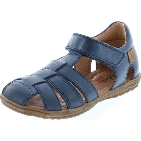 Naturino Boys See Closed Toe and Closed Back Leather Fisherman Sandals Naturino Pink Sandals
