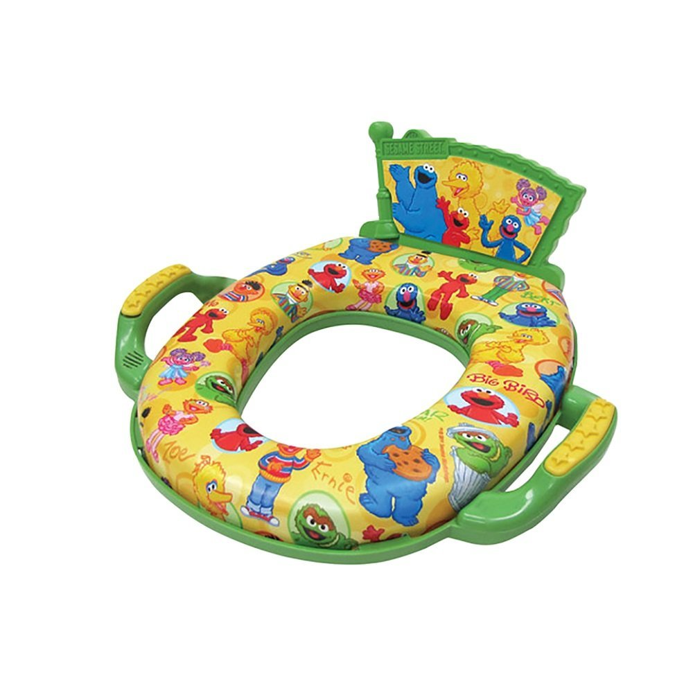 Sesame Street Deluxe Potty Seat - Padded, Soft, and Durab...