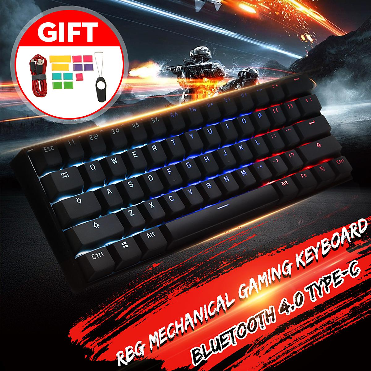 [Gateron Switch]Obins Anne Pro 2 60% NKRO bluetooth 4.0 Type-C RGB Wireless Mechanical Gaming Keyboard Keypad (Brown Switch)