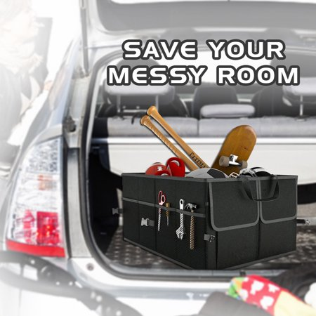 Black Collapsible Car Trunk Organizer Truck Cargo Portable Tools Folding Storage Bag Case Space Saving Auto Boot Organiser - image 4 of 4