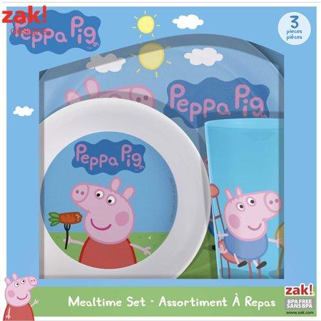 Zak! Designs Nick Jr. Peppa Melamine Plates ()