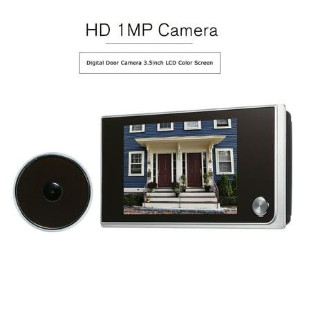Digital Door Camera 3.5inch LCD color Screen 120 Degree Peephole Viewer Door Eye Viewer (Batteries are not (Best Digital Peephole Viewer Review)