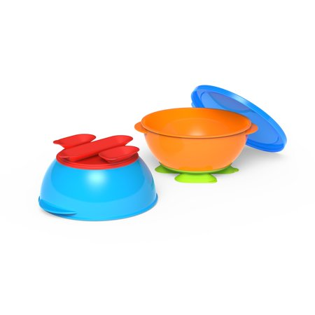 First Essentials by NUK™ Tri-Suction Bowls, Assorted Colors, (Multi Purpose Plastic Bowl)