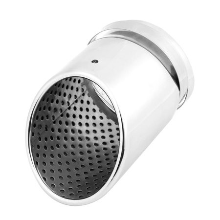 Unique Bargains Stainless Steel 8cm Inlet Exhaust Tip Muffler  Silver Tone for Car Auto