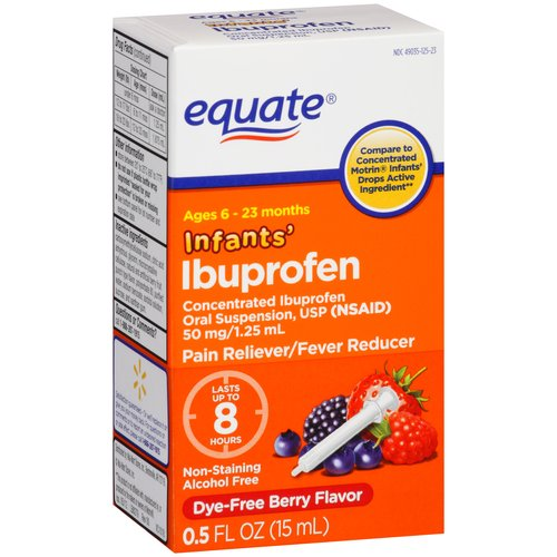 Equate Infants' Berry Flavor Ibuprofen, 0.5 fl oz