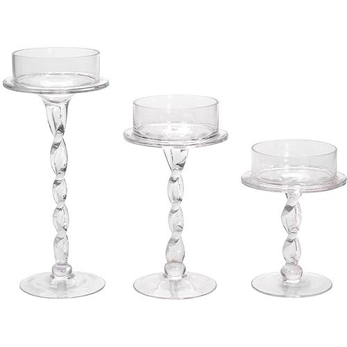 "10"" Glass Pillar Candle Holder by Generic"
