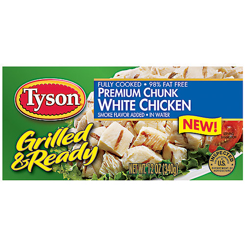 Tyson Grilled & Ready Premium Chunk White Chicken, 12 oz