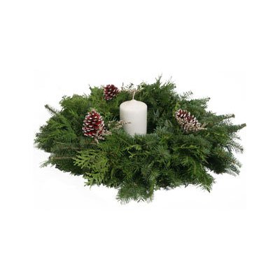 Wreath Factory Northern Lights Center Piece-Without Bow & Berries