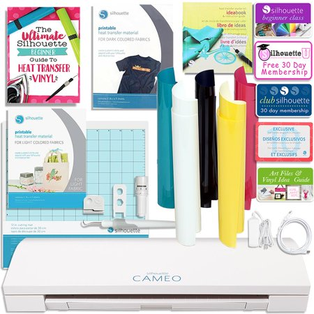 Silhouette Cameo 3 Bluetooth T Shirt Starter Bundle With Guide